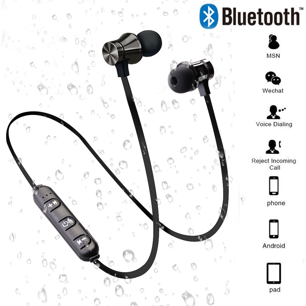 Magnetic Wireless Bluetooth Earphone Stereo Sports Waterproof Earbuds Wireless In Ear Headset With Mic For Iphone 7 Samsung Buyersparade
