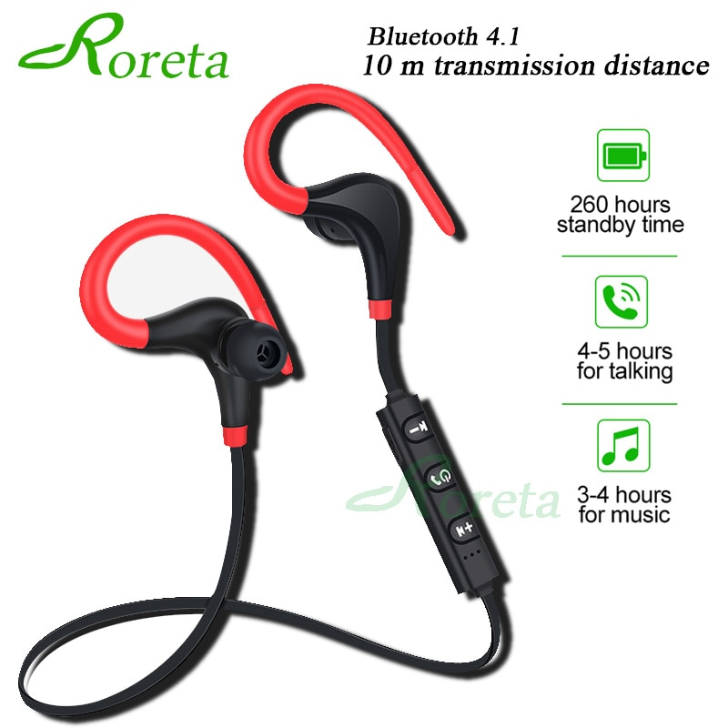 Roreta Bluetooth Wireless Earphone Stereo Ear Hook Sports Noise Reduction Earphones With Microphone Headset For Iphone Huawei Buyersparade